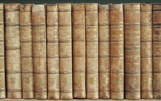 Buchrücken Rechtsanwaltsbibliothek